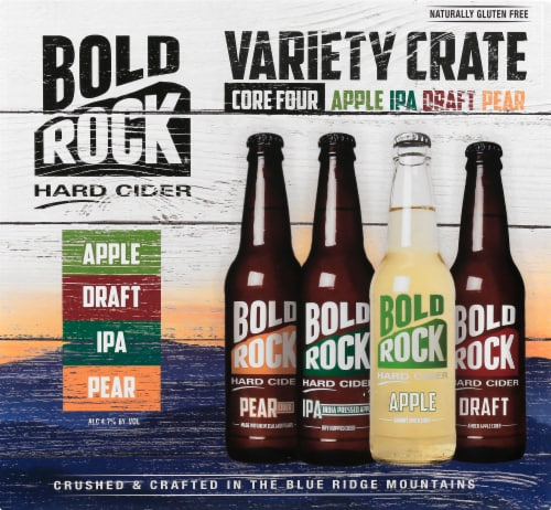 Bold Rock Hard Cider Variety Crate Perspective: front
