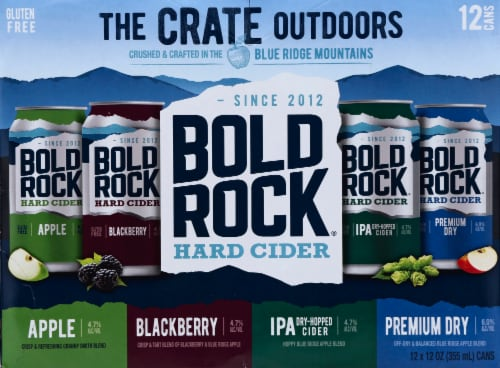 Bold Rock The Crate Outdoors Hard Cider Variety Pack Perspective: front