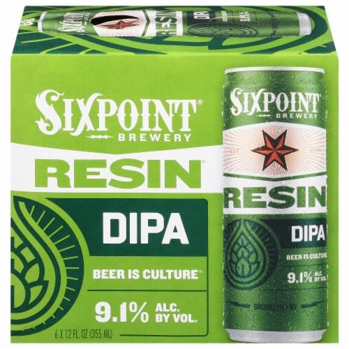 Sixpoint Resin IIPA Beer Perspective: front