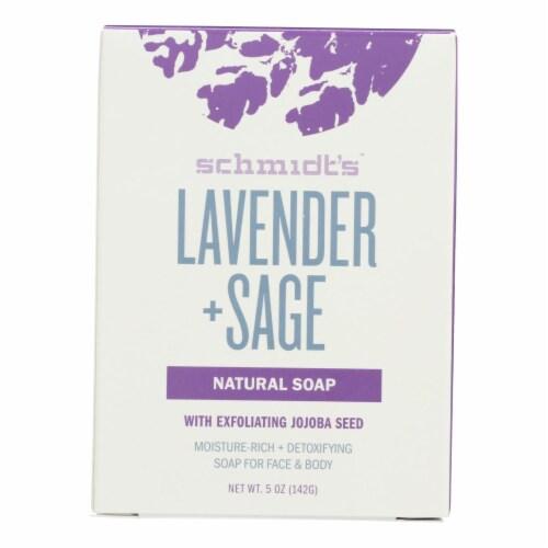 Schmidt's Lavender + Sage Natural Bar Soap Perspective: front