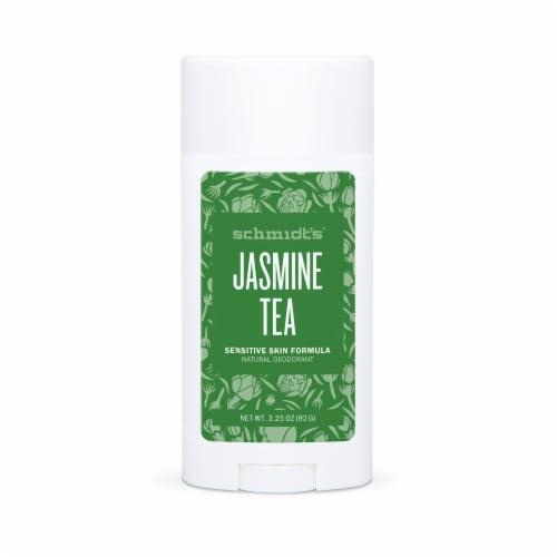 Schmidt's Jasmine Tea Sensitive Skin Formula Aluminum Free Natural Deodorant Perspective: front