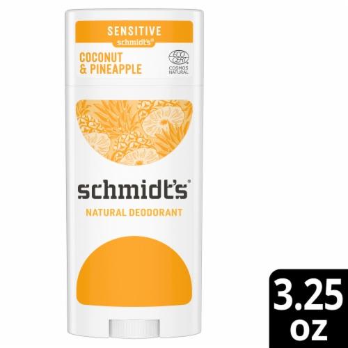 Schmidt's Coconut Pineapple Sensitive Skin Formula Aluminum Free Natural Deodorant Perspective: front