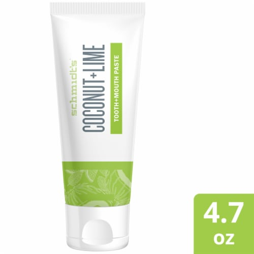 Schmidt's Coconut + Lime Toothpaste Perspective: front