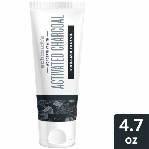 Schmidt's Activated Charcoal Tooth + Mouth Paste Perspective: front