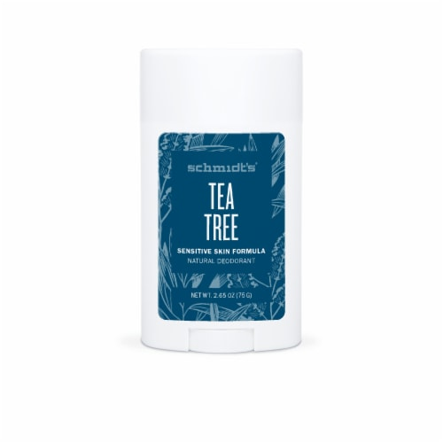 Schmidt's Sensitive Skin Tea Tree Aluminum Free Natural Deodorant Perspective: front