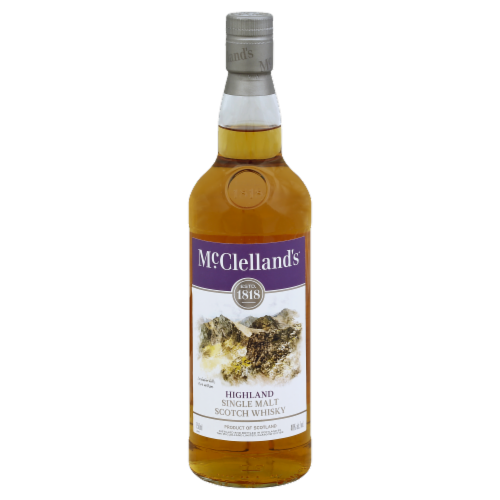 McClelland's Highland Single Malt Scotch Whisky Perspective: front