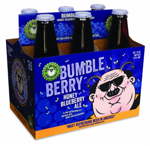Fat Head's Bumbleberry Honey Blueberry Ale Perspective: front