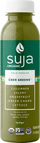 Suja Organic Uber Greens Juice Drink Perspective: front