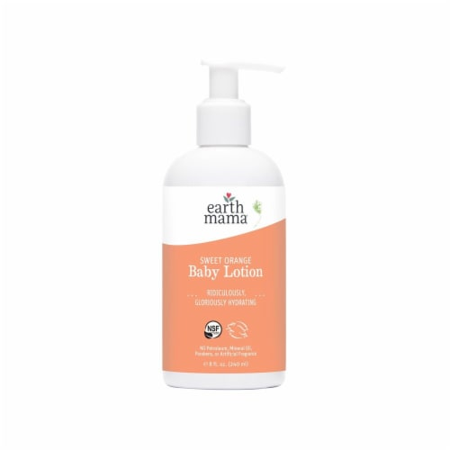 Earth Mama Sweet Orange Baby Lotion Perspective: front