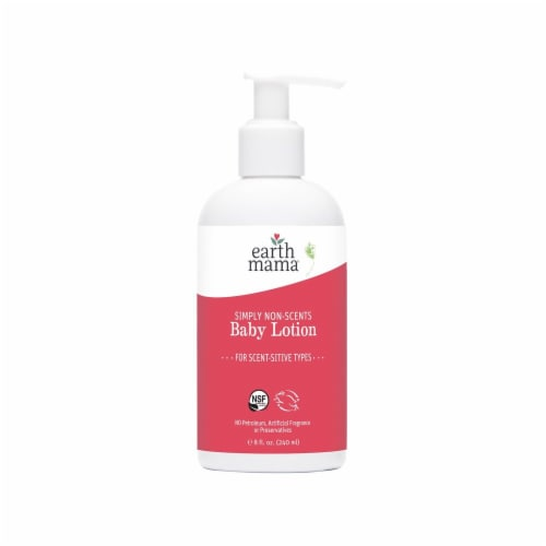 Earth Mama Simply Non-Scents Baby Lotion Perspective: front