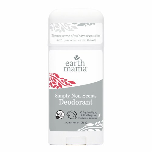 Earth Mama Natural Non-Scented Deodorant Perspective: front