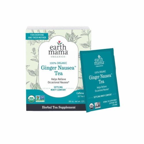 Earth Mama Organic Morning Wellness Tea Perspective: front