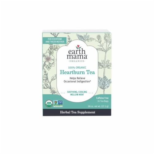 Earth Mama Organic Heartburn Tea Perspective: front