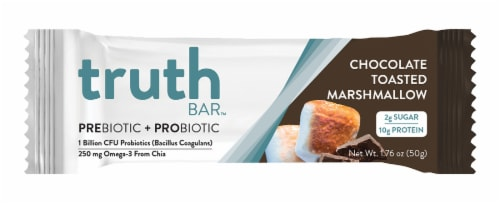 Truth Prebiotic + Probiotic Chocolate Toasted Marshmallow Bar Perspective: front