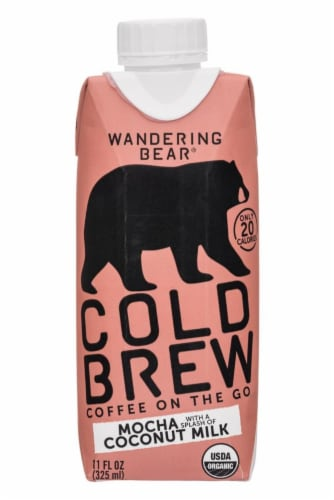 Wandering Bear Organic Mocha Cold Brew Coffee With Coconut Milk Perspective: front