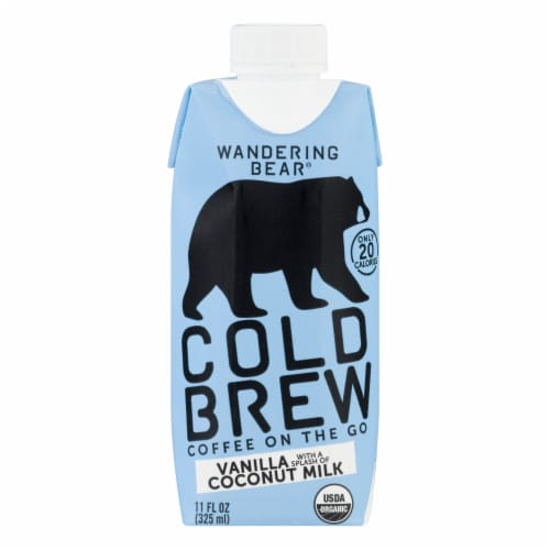 Wandering Bear Organic Vanilla Cold Brew Coffee With Coconut Milk Perspective: front