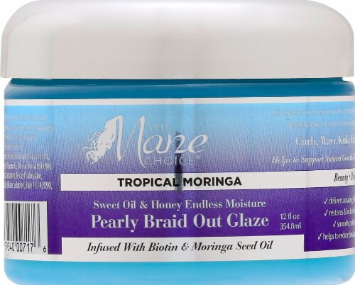 The Mane Choice Tropica Moringa Sweet Oil & Honey Endless Moisture Pearly Braid Out Glaze Perspective: front