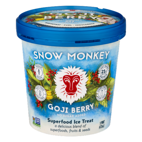 Snow Monkey Goji Berry Superfood Ice Treat Perspective: front