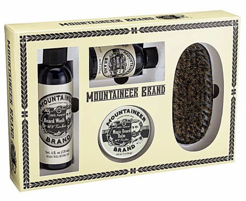 Mountaineer Brand  Complete Beard Care Kit WV Timber Perspective: front