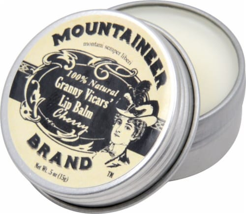 Mountaineer Brand  Granny Vicars' Lip Balm   Cherry Perspective: front