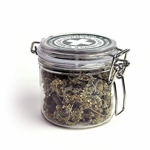 Meowijuana MJ00500 Large Jar of Buds, Purple Perspective: front