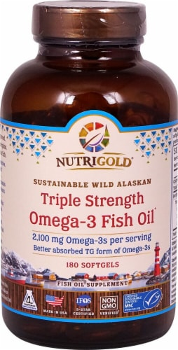 NutriGold  Triple Strength Omega-3 Fish Oil Perspective: front