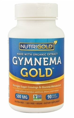 NutriGold Gymnema Gold Veggie Capsules 500mg Perspective: front
