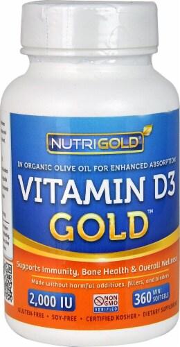 NutriGold Vitamin D3 Gold Mini Softgels Perspective: front