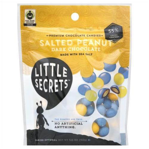 Little Secrets Sea Salted Peanut Dark Chocolate Candies Perspective: front