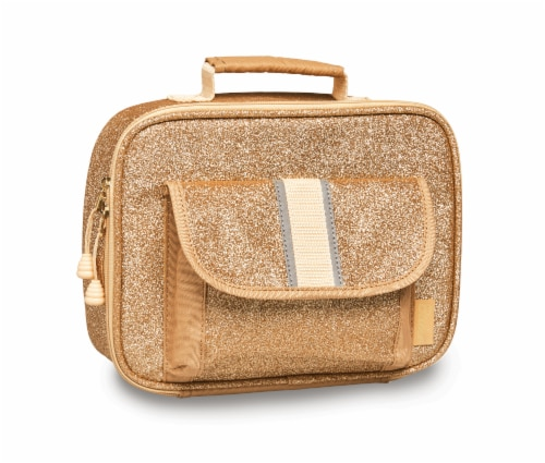 Bixbee Sparkalicious Lunchbox - Gold Perspective: front