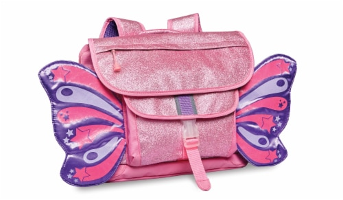 Bixbee Medium Sparkalicious Butterflyer Backpack - Pink Perspective: front