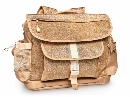 Bixbee Medium Sparkalicious Backpack - Gold Perspective: front