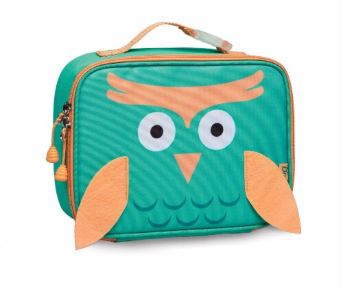 Bixbee Animal Pack Owl Lunchbox Perspective: front