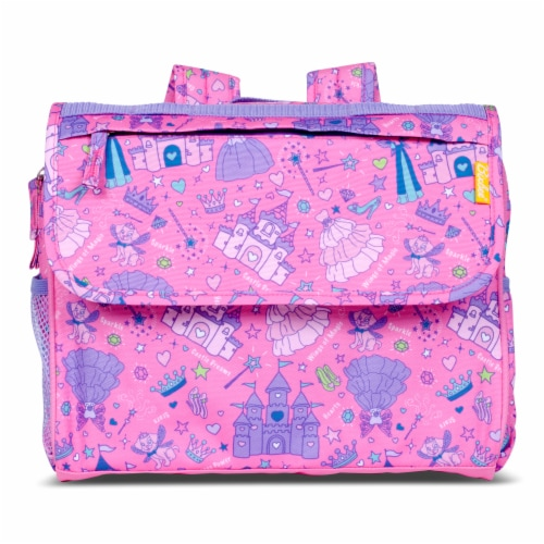 Bixbee Fairy Princess Backpack and Lunchbox Set Perspective: front