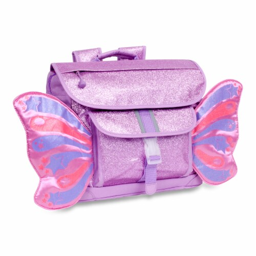 Bixbee Medium Sparkalicious Butterflyer Backpack - Purple Perspective: front