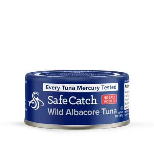 Safe Catch® No Salt Added Wild Albacore Tuna Perspective: front