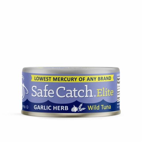 Safe Catch Elite Garlic Herb Wild Tuna Perspective: front
