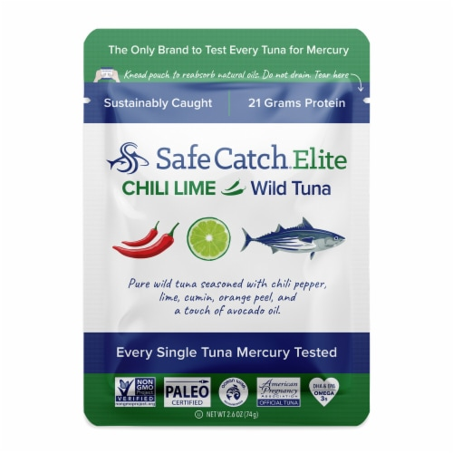 Safe Catch Elite Chili Lime Wild Tuna Perspective: front