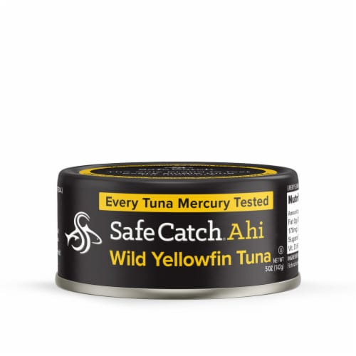 Safe Catch Ahi Wild Yellowfish Canned Tuna Perspective: front