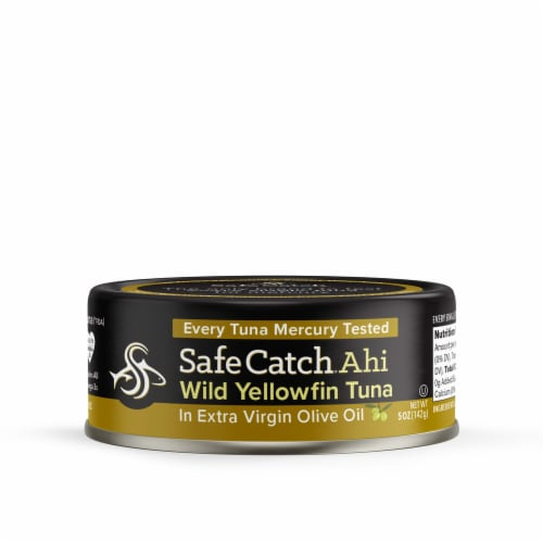 Safe Catch Ahi Wild Yellowfin Tuna in Extra Virgin Olive Oil Perspective: front