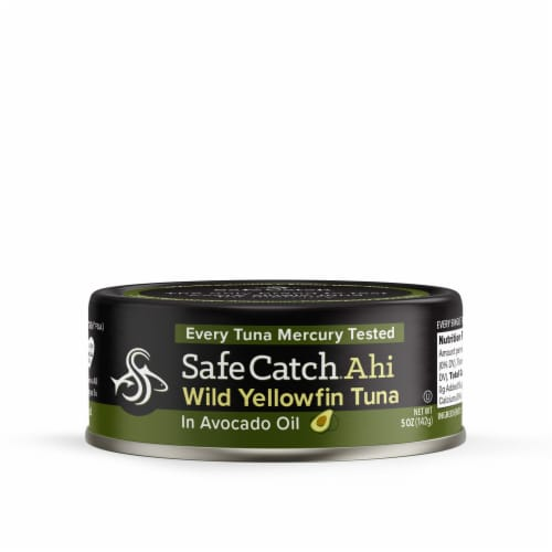 Safe Catch Ahi Wild Yellowfin Tuna in Avocado Oil Perspective: front