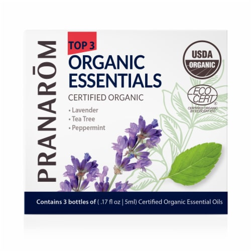 Pranarom Top 3 Single Note Essential Oil Kit Perspective: front