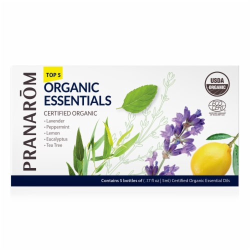 Pranarom Top 5 Single Note Essential Oil Kit Perspective: front