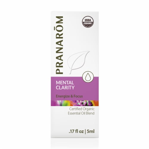 Pranarom Mental Clarity Essential Oil Blend Perspective: front