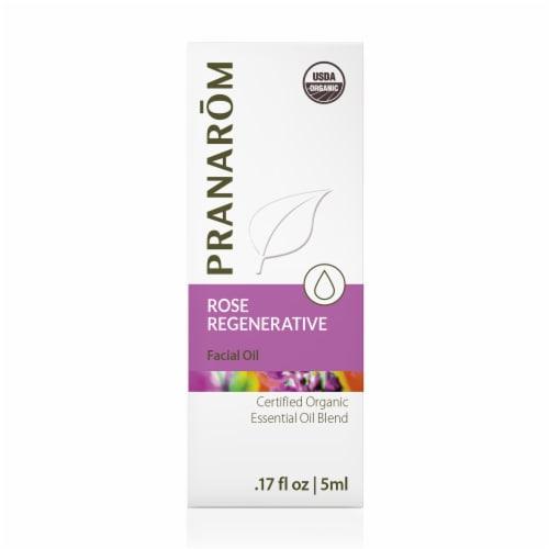 Pranarom Rose Regenerative Facial Oil Blend Perspective: front
