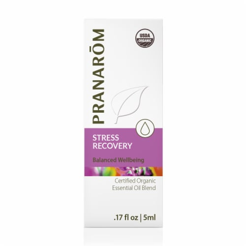 Pranarom Stress Recovery Essential Oil Blend Perspective: front