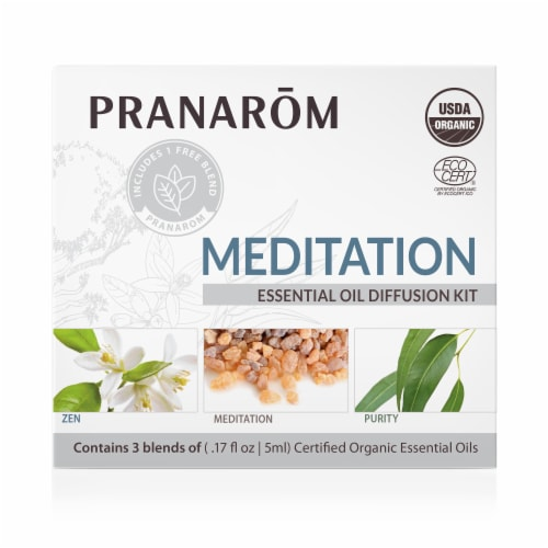 Pranarom Meditation Diffusion Blend Kit Perspective: front