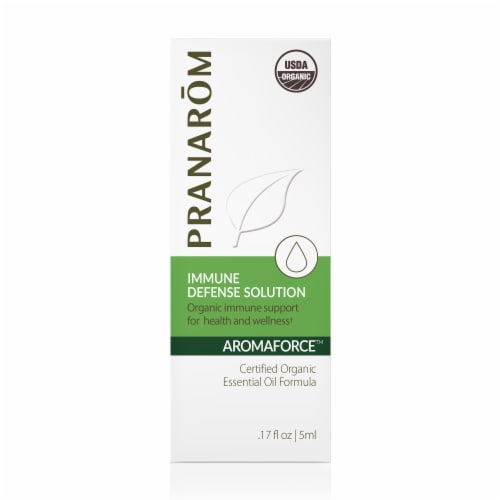 Pranarom Aromaforce Immune Defense Solution Essential Oil Diffusion Blend Perspective: front