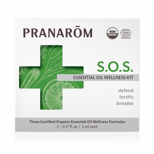Pranarom SOS Essential Oil Wellness Kit Perspective: front