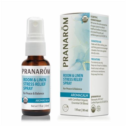 Pranarom Aromacalm Organic Room & Linen Stress Relief Spray Perspective: front